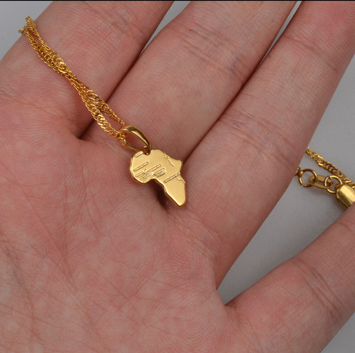 Africa Map Pendant Necklace Statement JewelryGreater London