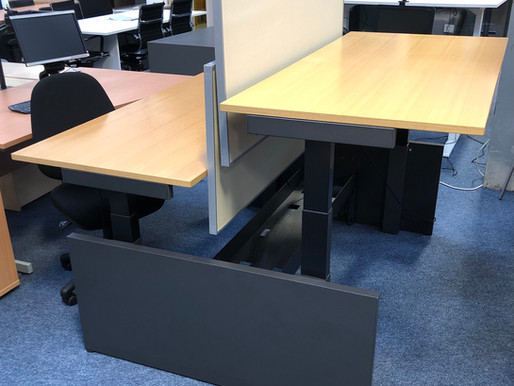 New Stock Just Landed! As New, Excellent Quality Herman Miller Sit Stand Desks!