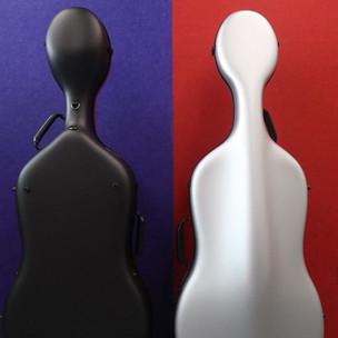 Eggshell cello case Feather