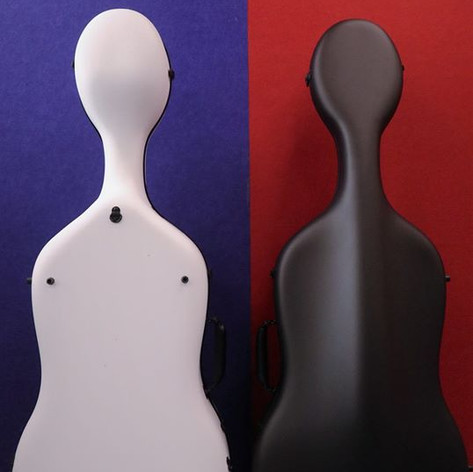 Eggshell cello case Air: back