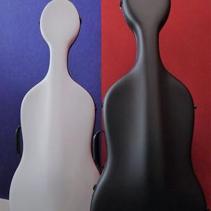 Eggshell cello case Air: front