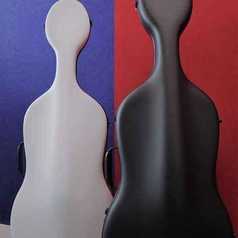 Eggshell cello case Air: front