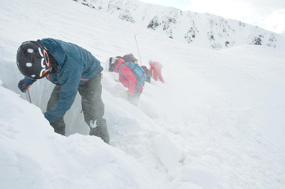 SAPUL - lavínový kurz, vyhrabávanie obete z lavíny
