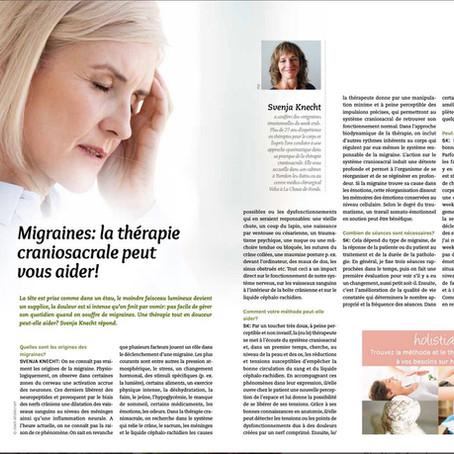 Migraines - la thérapie craniosacrale peut vous aider!