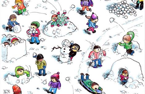 Snow Day Card Design