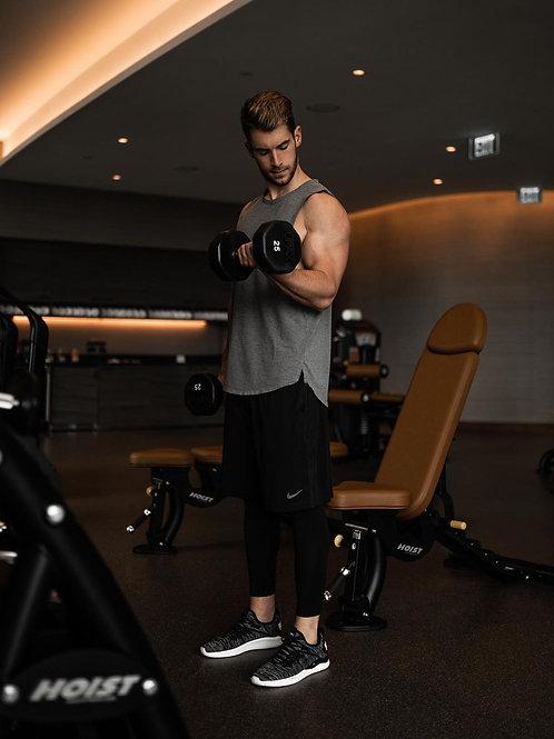 Mens Essential Longline Workout Stringer Cotton Tank Tops Gym Shirts Sports Vest