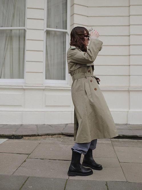 Customized Women's Lapel Collar Coat Long Sleeve Plaid Blazer Outerwear