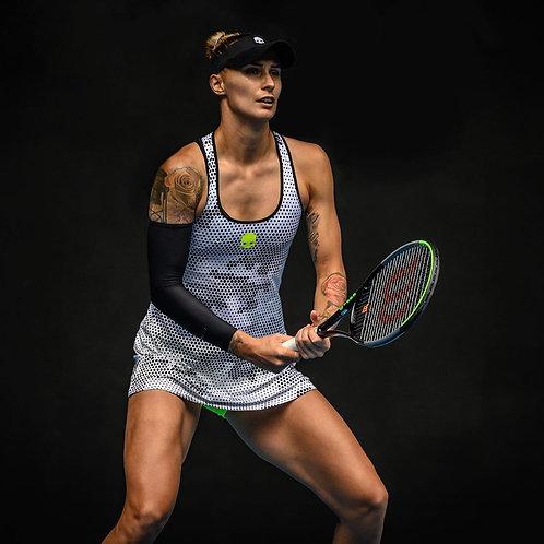 Women's Tennis High Performance Dry Fit Short Sleeve Golf Polo Shirts -Flat Knit