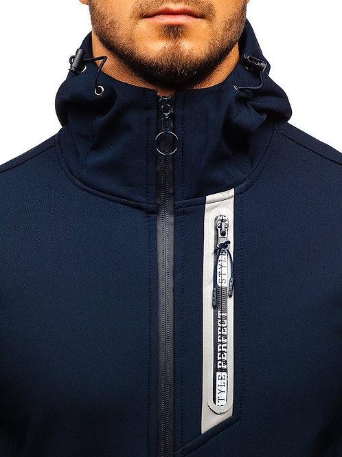 Men's Softshell Jacket Fleece Lined Waterproof Lightweight Hooded Coat