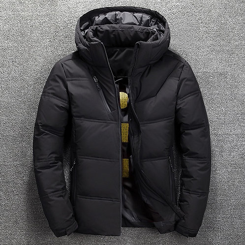 Mens Water Resistant Hooded Thermal Reflective Winter Coat Quilted Puffer Jacket