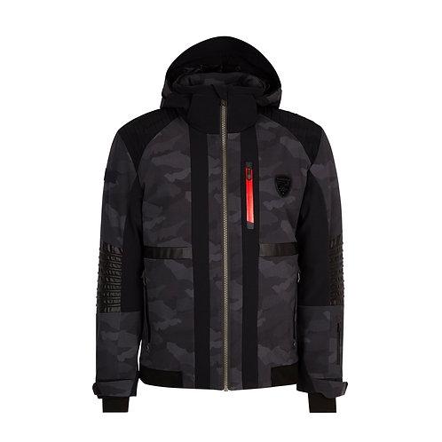 Men's Winter Waterproof Hooded Fleece Ski Jacket Windproof Rain