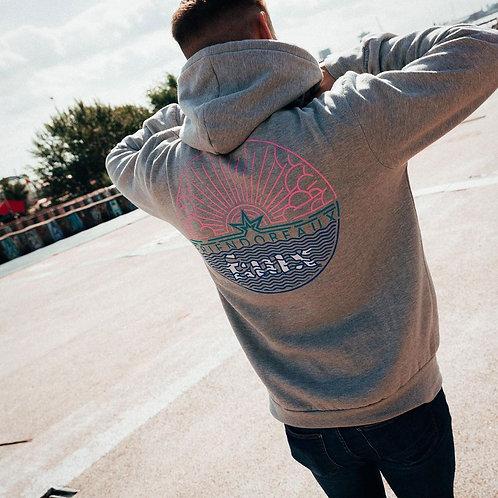 Eco-Smart Fleece Hooded Sweatshirt Haider Grey