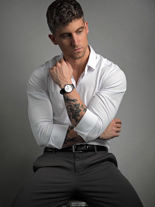 Customized Men's Printed Cotton Casual Long Sleeve Regular Fit Dress Shirt
