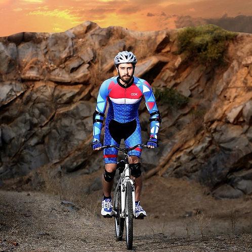 Men's Long SleeveShirts Cycling Bike Jersey with 3 Rear Pockets Moisture Shirts