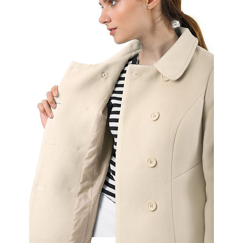 Women's Faux Jacket Casual Stand Collar Slim Fit Coat