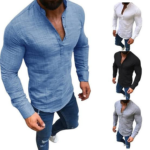 Customized Men's Floral Printed Shirts Long Sleeve Vintage Flower Casual Button
