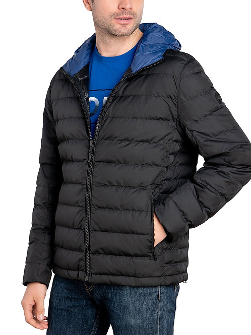 Men's Water-Resistant Hooded Thickened Insulated Quilted Puffer Coat