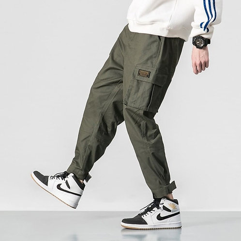 Men's Sweatpants with Pockets Open Bottom Athletic Pants for Jogging, Workout