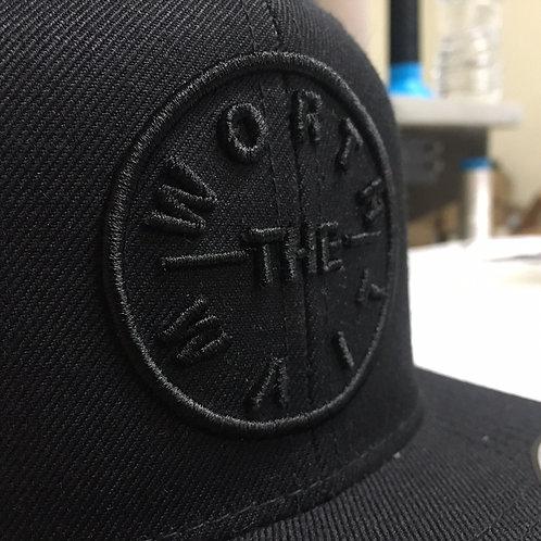 Men's Black Cotton Jeans Embroidered Hat