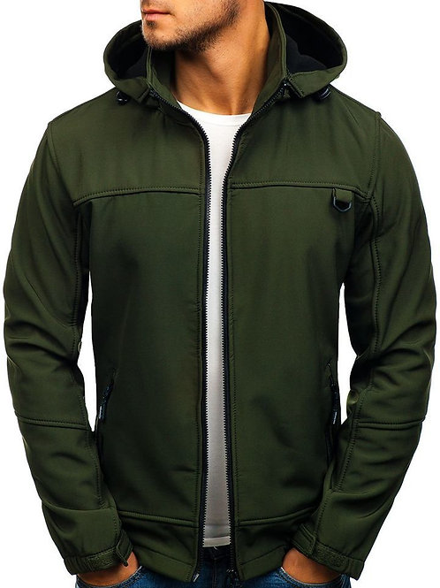 Men'sLined Softshell Jacket Water Resistant Tactical Jacket