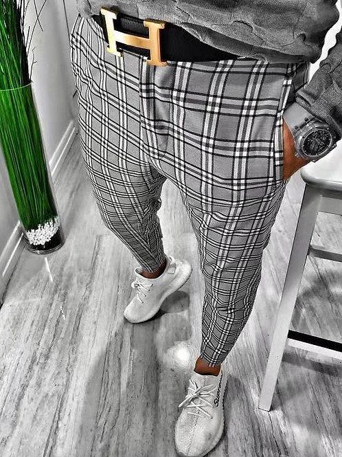 Customized Men's Linen Cotton Loose Fit Casual Lightweight Elastic Waist Trouser