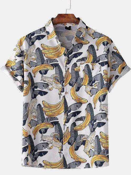 Customized Men's Dress Shirts Long Sleeve Wrinkle Regular Fit Printed Fashion