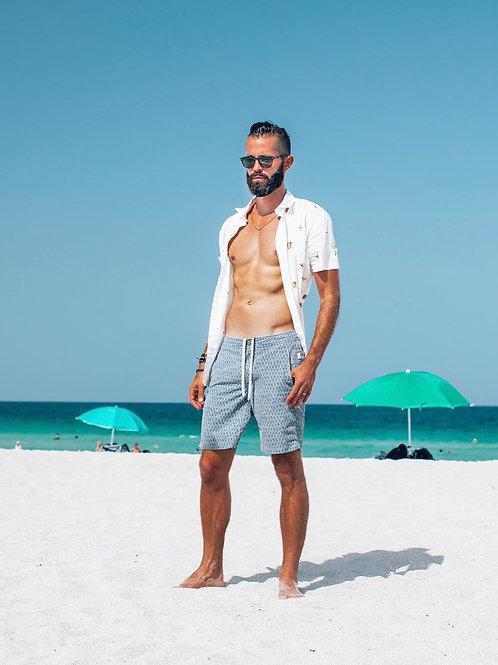 Customized Men's Swim Trunks Retro Soft Washed Drawstring Workout Shorts Men