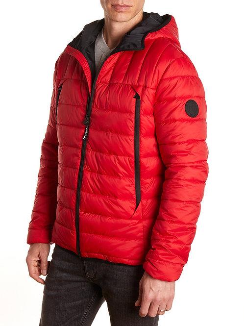Men's Hooded Packable Light Weight Short Down Jacket, Puffer Coat for Men