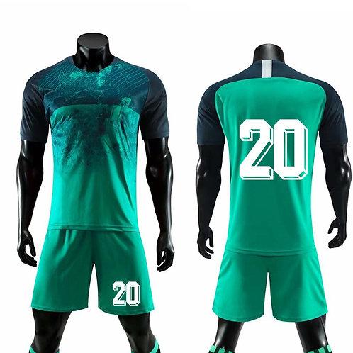 Football Short Sleeve Jersey for Men's Soccer Jersey Adult Training Uniform