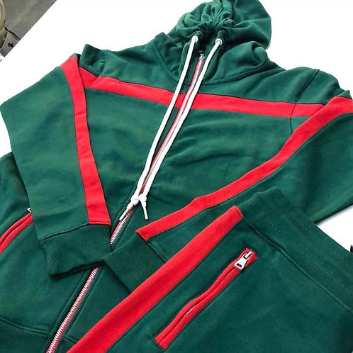Women's French Terry Active Wear Hooded Tracksuit