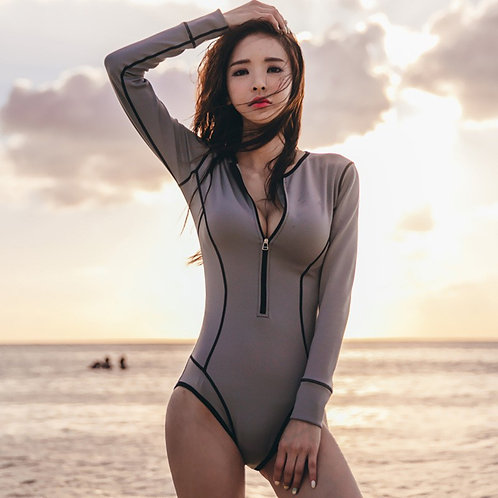 VNeck One Piece Swimsuits with Rushing Bathing Suit Tummy Control Beach Swimwear