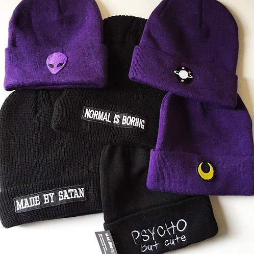 Women's Knit Beanie Winter Thick Solid Fleece Lined Beanie Hats