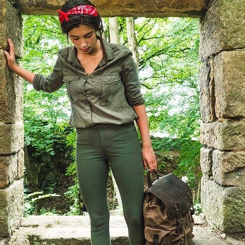 Customized Women's Outdoor Quick Dry Hiking Mountain Cargo Pants Zipper Pockets