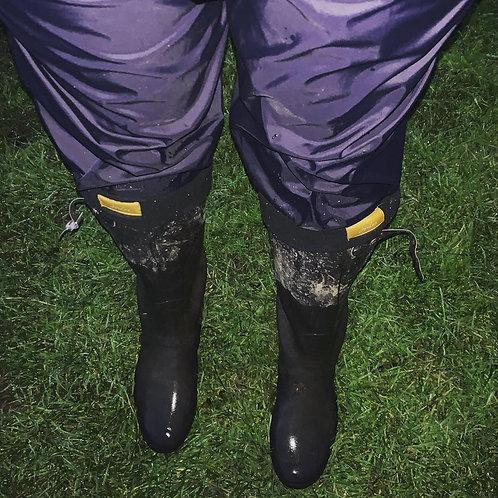 Men's Outdoor Fleece Lined Softshell Pants Waterproof Quick Dry Hiking Pants