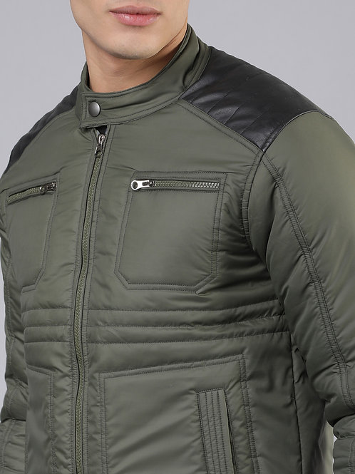 Men's Puffer Jacket Water-Resistant Insulated Quilted Coat