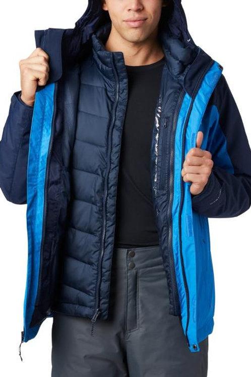 Men's Ski Jacket 3 in 1 Waterproof Winter Jacket Snow Jacket Windproof Hooded