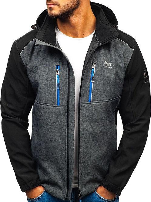 Men's Fleece Lined Softshell Jacket, Lightweight Tactical Jacket Water Repellent