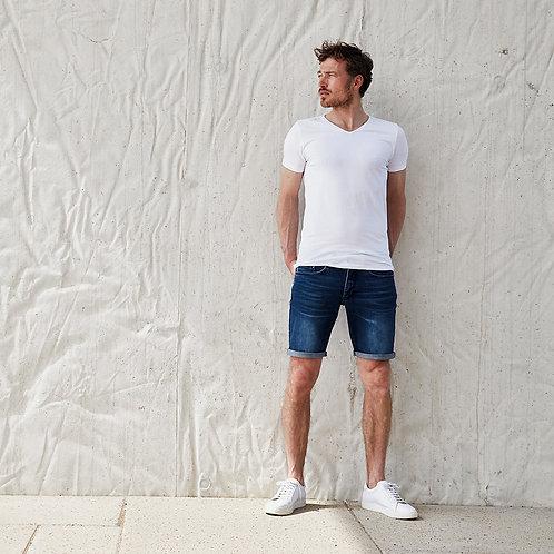 Customized Men's Linen Casual Classic Fit Short Summer Beach Shorts