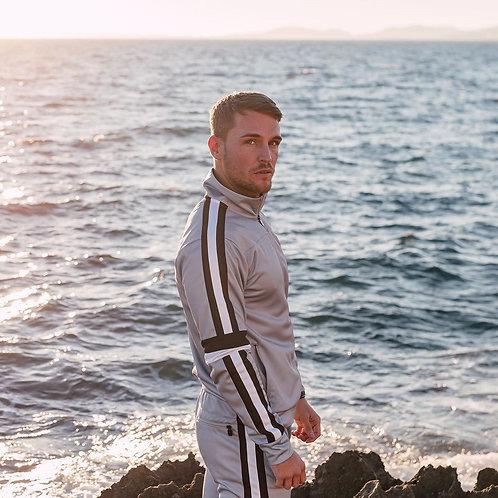 Men's Casual Tracksuit Long Sleeve Full-Zip Running Jogging Sports Jacket