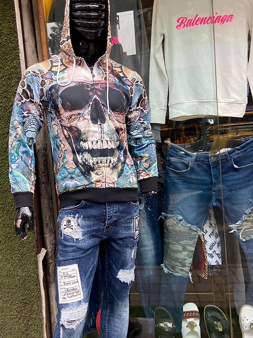 Men's Zip-up Hoodie, Prime Exclusive