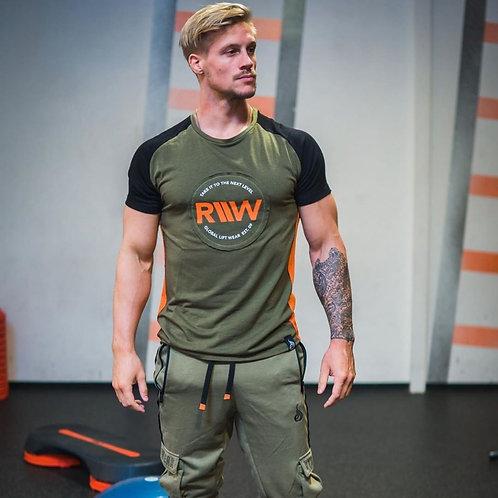 Men's Crewneck Gym Training & Workout T-Shirt - Short Sleeve Active Wear Top