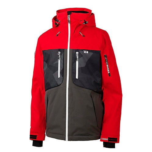 Men's Mountain Snow Waterproof Ski Jacket Detachable Hood Windproof Rain Jacket