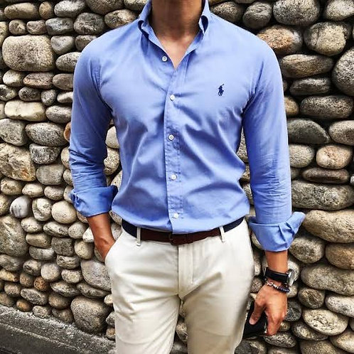 Customized Men's Short Sleeve Cotton Solid Fitted Button Down Oxford Shirts