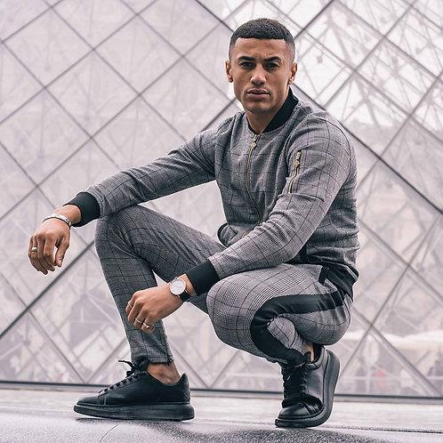 Men's Tracksuit Athletic Full Zip Casual Sports Jogging Gym Sweat suit