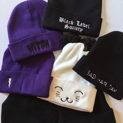 Winter Beanie Hat for Women Warm Lined Pom Knit Hat Cute Outdoor Skull Cap