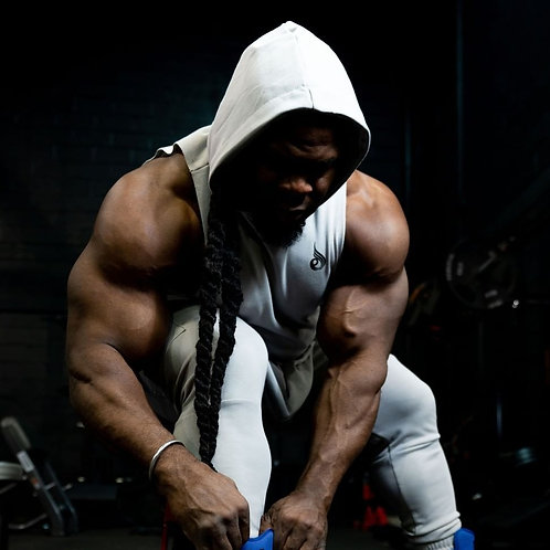 Men's Sleeveless Workout Tank Top Hooded Gym Bodybuilding Fitness Muscle Hoodies
