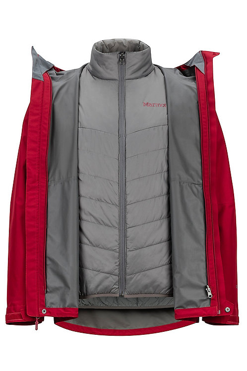 Men's 3-in-1 Ski Jacket - Winter Jacket Set with Fleece Liner Jacket & Hooded