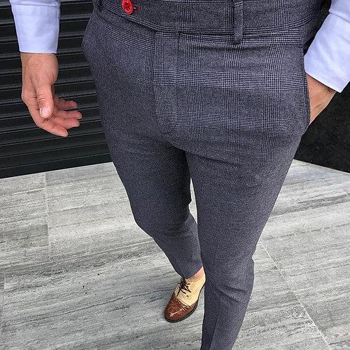 Customized Men's Skinny Ripped Hole Classic Jeans Distressed Regular Denim Pant