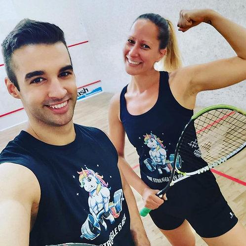 Men's Moisture Wicking Short Sleeve Squash Regular Fit Squash Shirt