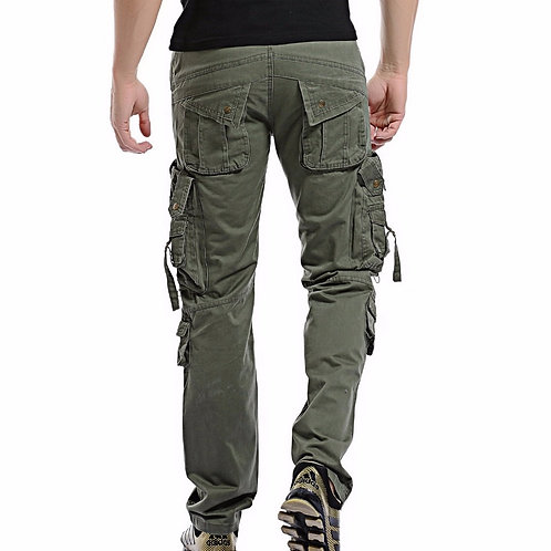 Customized Men's Premium Relaxed Fit Straight Leg Cargo Pant